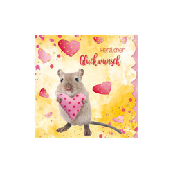 Greeting card Cuddles mouse