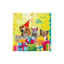 Greeting card Cuddles pets