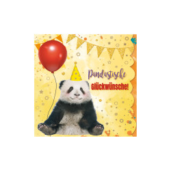 Greeting card Cuddles panda