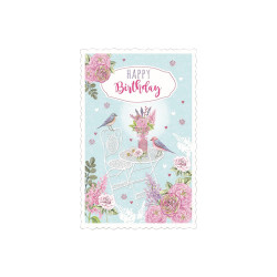 Greeting card High tea birds