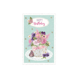 Greeting card High tea flowerp...