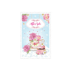 Greeting card High tea cup