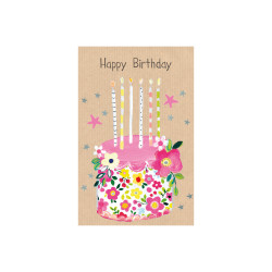 Greeting card Butterscotch cak...