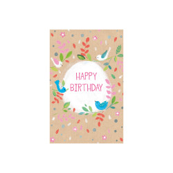 Greeting card Butterscotch bir...