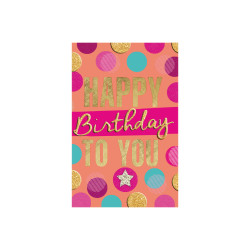 Greeting card Neon dots