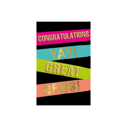 Greeting card Neon stripes