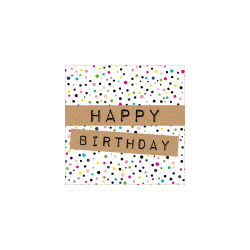 Greeting card mini square, dot...