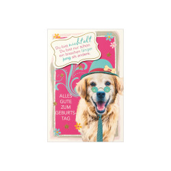 Greeting card Funny Animals ap...