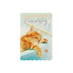 Greeting card glimmer cat / ha...