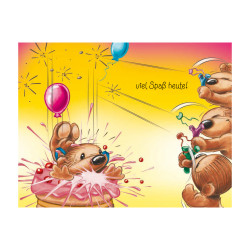 Greeting card Twinny with ball...