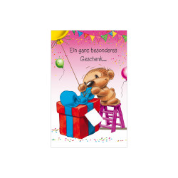 Greeting card Twinny on ladder