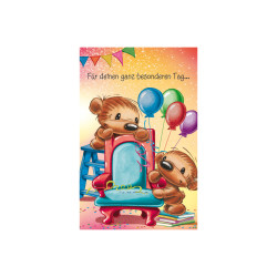 Greeting card Twinny chair