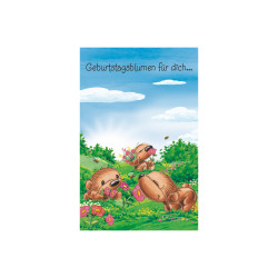 Greeting card Twinny in meadow
