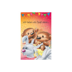 Greeting card Funny Twinny sew