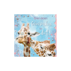 Greeting card Cuddles giraffes