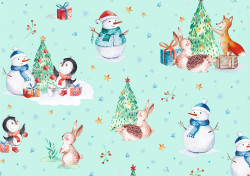 Gift wrap 2m Xmas Cute Xmas ic...